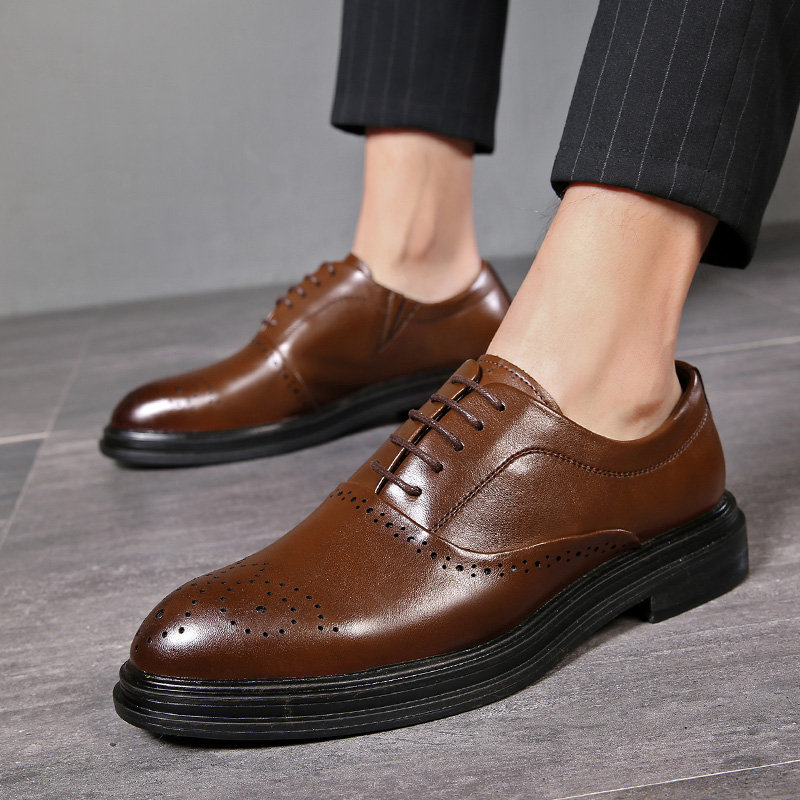 2020 Autumn Men Shoes Leather Men Dress Shoes Luxury Men's Business Casual...