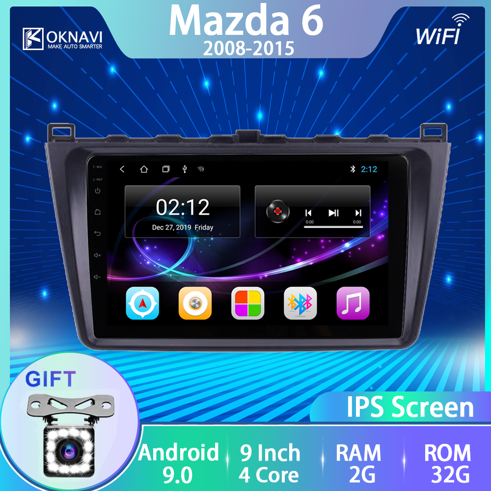 OKNAVI No 2 Din 2G 32G Car Radio For <font><b>Mazda</b></font> <font><b>6</b></font> 2008-2015 Android Multimedia Player <font><b>Gps</b></font> <font><b>Navigation</b></font> Bluetooth Accessories 4G Wifi image
