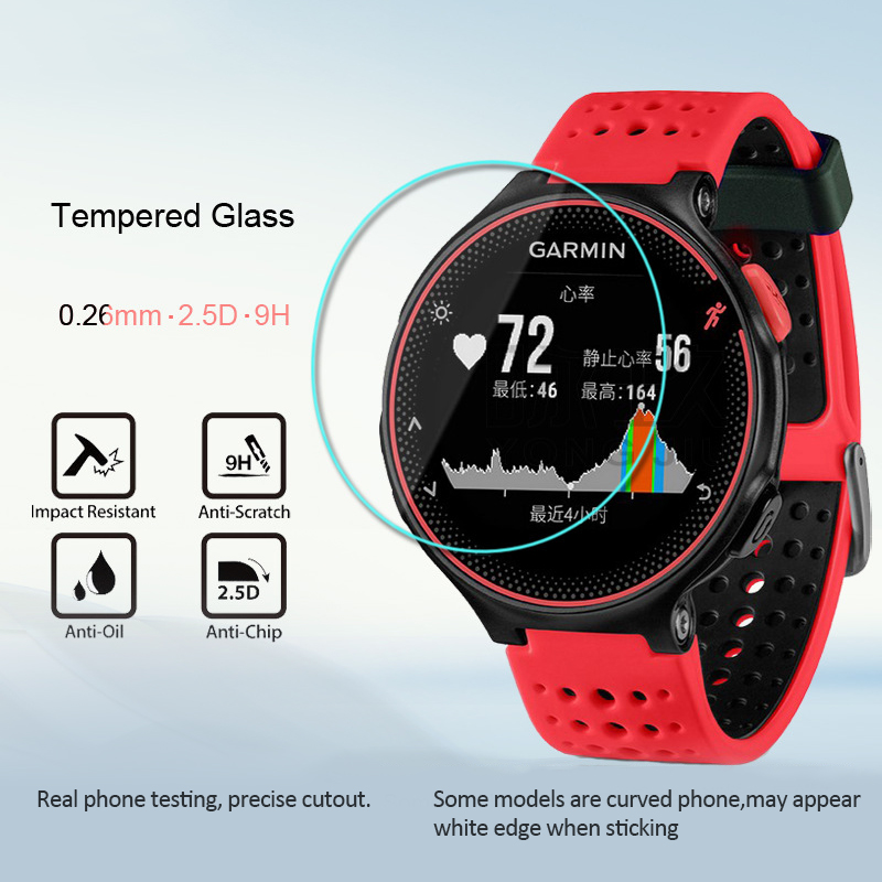 HD Scratch-Resistant Tempered Film For Garmin Forerunner 235/225/220 Smart Watch Protective Film Soft Screen Protector TSLM1