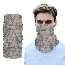 Камуфляжный бесшовный спортивный волшебный шарф для шеи чехол