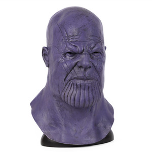 Image 4 - Halloween Mask Deluxe Thanos Mask Horror Mask Adult Latex Cosplay War Helmet Masks Party Scary Props Mascaras Halloween Mask