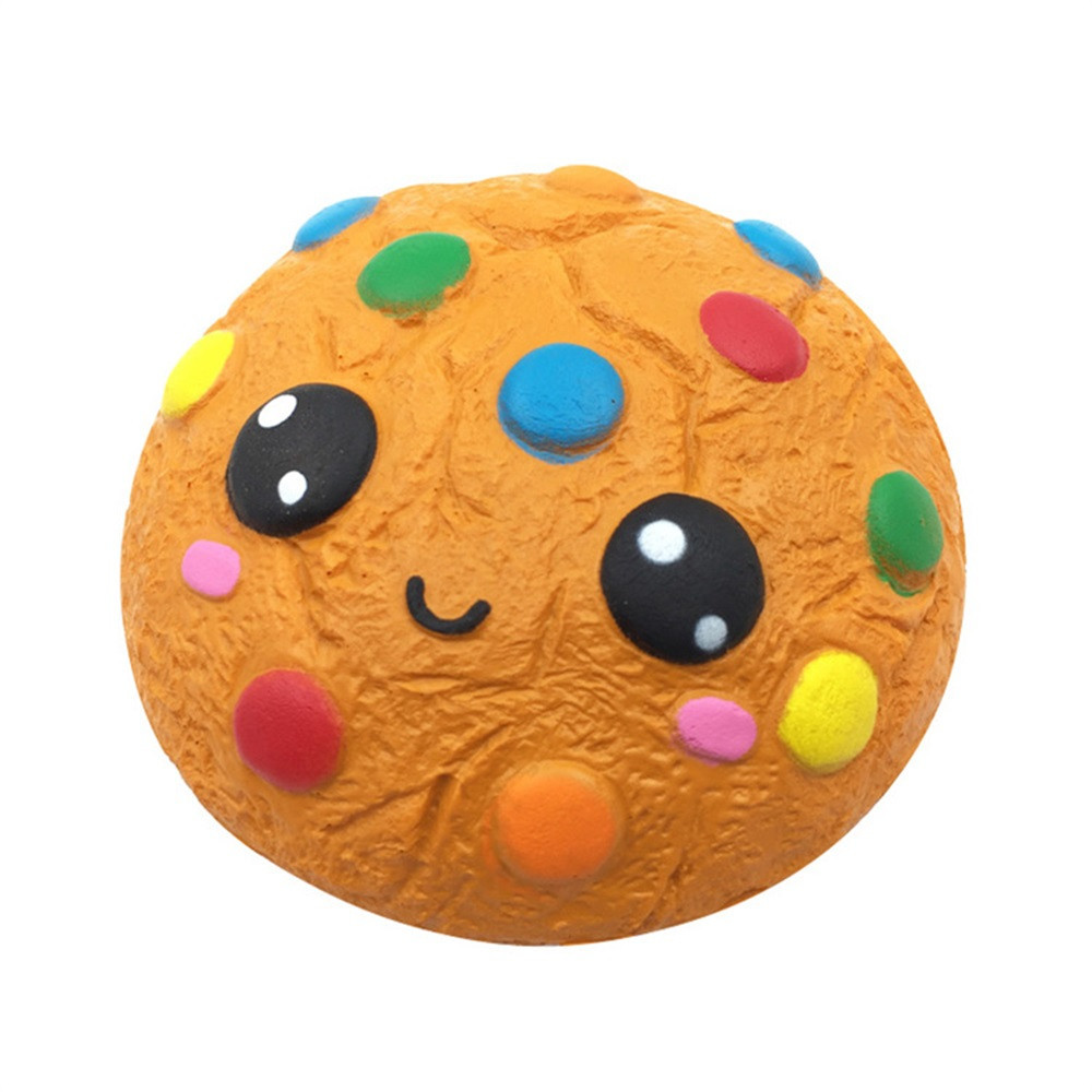 Chocolate Biscuits Cute Squishy Slow Rising Soft Squeeze Toy Simulation Food Toy Kids Gifts Preschool Props #B