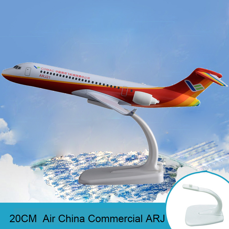 20cm ARJ Air China Airplane Model Commercial Flying Airbus ARJ Airways Metal Aircraft Model COMAC Travel Souvenir Holiday Gift