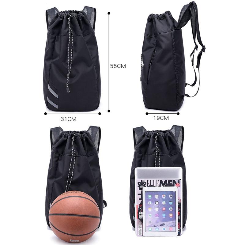 Мужская футбольная Большая вместительная школьная сумка для хранения спортивного зала, баскетбольный рюкзак с кулиской, мячи, водонепроницаемое ведро для спорта на открытом воздухе, путешествий-1