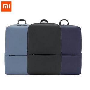 Image 1 - Рюкзак Xiaomi дорожный деловой с 3 карманами, ранец из полиэстера 1260D с большими отделениями на молнии для 15 дюймового ноутбука