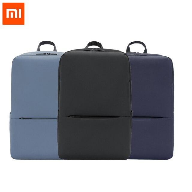 Рюкзак Xiaomi дорожный деловой с 3 карманами, ранец из полиэстера 1260D с большими отделениями на молнии для 15 дюймового ноутбука