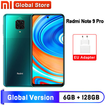 Spain Oversea Redmi Note 9 Pro 6GB 128GB NFC Global Version Smartphone Snapdragon 720G Octa Core 64MP Quad Camera 6.67'' Screen