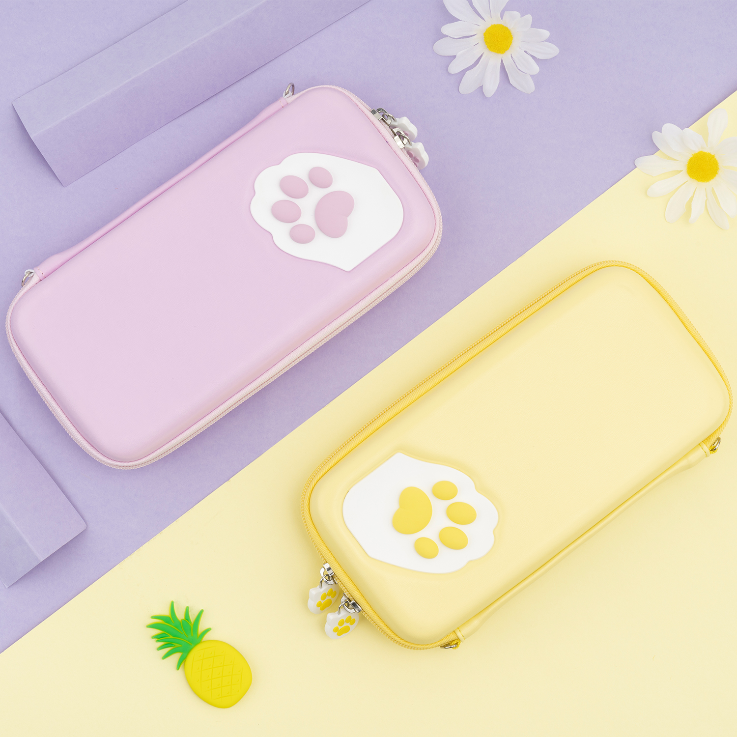 GeekShare Nintend Switch Lite Case Cat Claw CP Storage Bag Silicone Hard Shell Cover Box For NS Lite Game Console Accessories