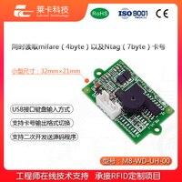 Kleine Volume Contactloze RFID Reader Module ISO14443A Protocol M1 Card USB Gesimuleerde Toetsenbord Verzenden IC Card