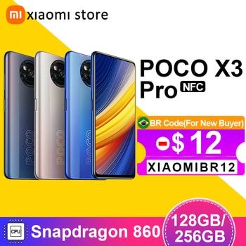 Poco x3 pro versão global 6gb 128gb/8gb 256gb snapdragon 860 smartphone 120hz dotdisplay 5160mah 33w nfc quad ai câmera 1