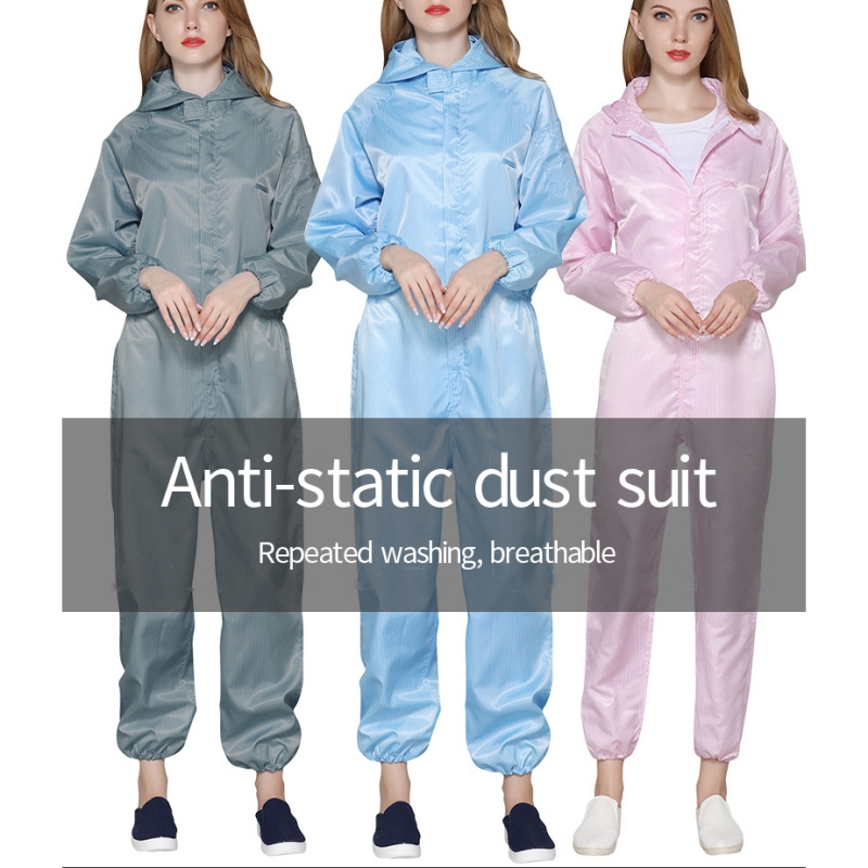 Disposable Hooded Protective Clothing Coverall Safety Chemical Protective General Hazmat Suit Surgical Cleanroom Garment