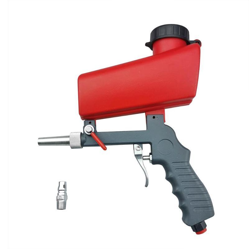 Aletler'ten Sprey Tabancaları'de Taşınabilir yerçekimi kumlama tabancası alüminyum pnömatik kumlama püskürtme tabancası kum patlatma güç makinesi title=