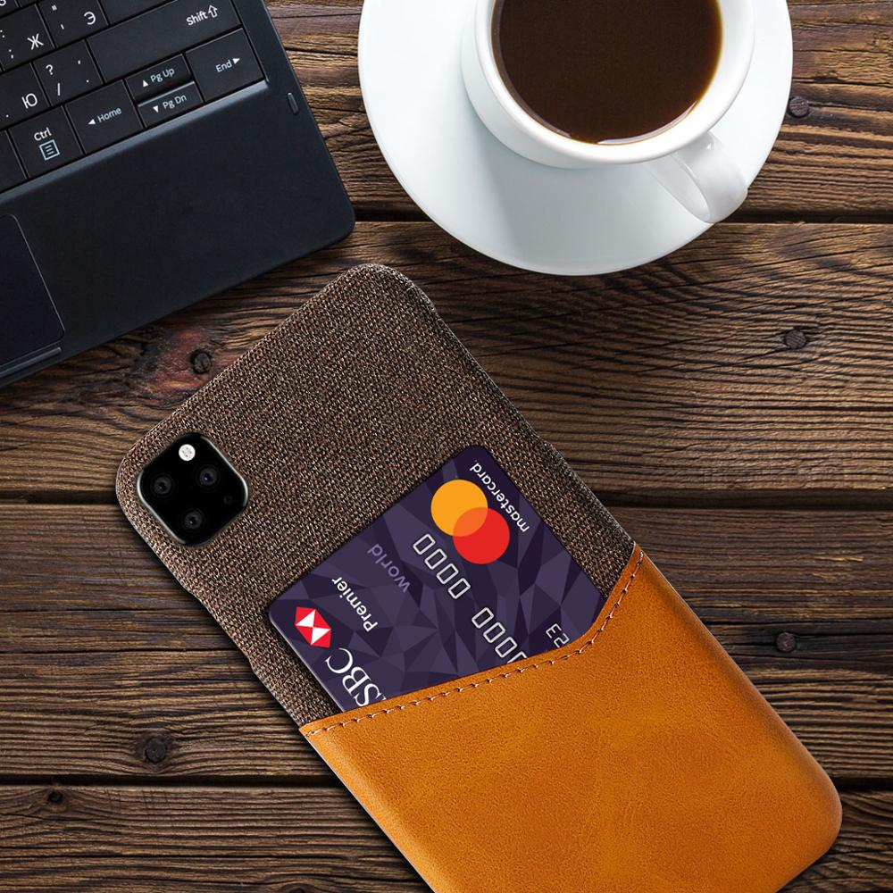 Shockproof Leather Card Holder Case for iPhone 11/11 Pro/11 Pro Max
