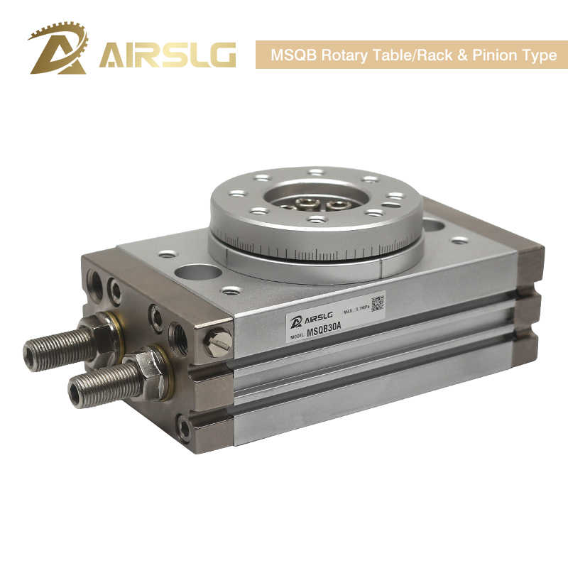SMC Type Rotary Pneumatische Cilinder MSQB50R Verstelbare 0-190 graden MSQB10A MSQB20A MSQA30A MSQB50A MSQB10R MSQB20R MSQA10A