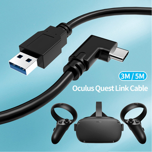 Image 1 - 3M/5M Data Line Oplaadkabel Voor Oculus Quest/2 Link Vr Headset Usb 3.1 Type C Data Transfer USB A Type C Kabel Vr Accessoire