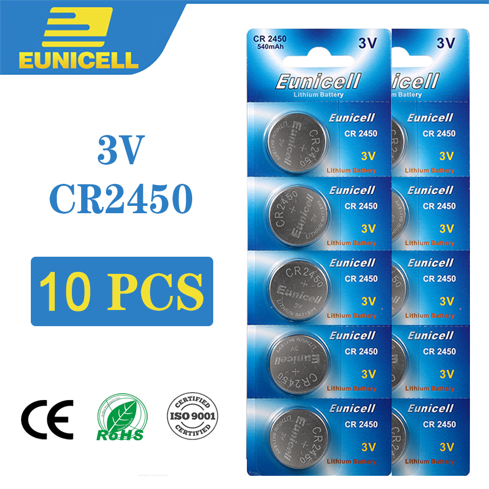 10PCS 270mAh CR2450 Button Battery <font><b>CR</b></font> <font><b>2450</b></font> KCR2450 5029LC LM2450 <font><b>3V</b></font> Cell Coin Lithium Batteries For Watch Electronic Toy Clocks image