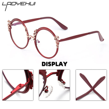 Retro Round Metal Prescription Eyeglasses Frames Luxury Brand Design Clear Glasses Women Fashion Customizable Diopters Glasses