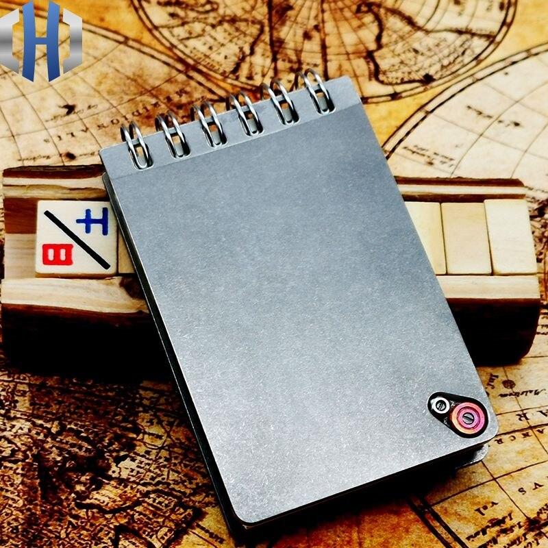 Titanium Alloy Tactical Notebook Outdoor Notepad Business Book Classroom Notebook