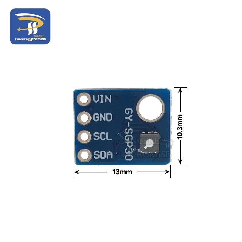 Image 3 - داخلي الهواء SGP30 قياس الغاز استشعار متعددة بكسل TVOC/eCO2 جودة الفورمالديهايد ثاني أكسيد الكربون الكاشف تستر ل اردوينو-في أجهزة استشعار من المكونات واللوازم الإلكترونية على AliExpress