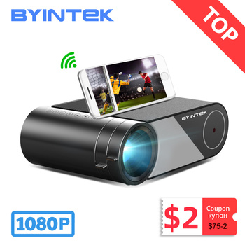 Byintek K9 mini 1280x720p Projetor portátil video beamer led proyector para 1080p 3d 4k cinema (opção multi-tela para iphone)