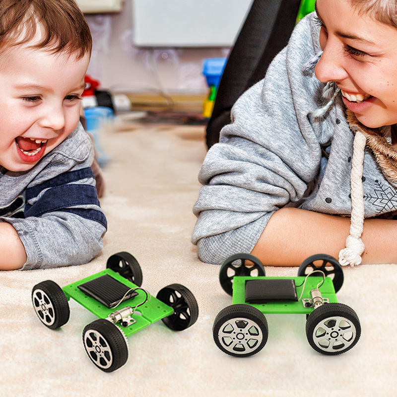 Solar Car Toys For Kids DIY Assembled Energy Solar Powered Toy Car Robot Kit Set Novelty Mini Children Educational Toy