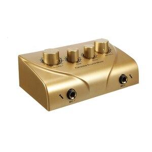 Misturador de som duplo microfone entradas empresa palco casa ktv quartos digital karaoke profissional sistema áudio máquina plug eua
