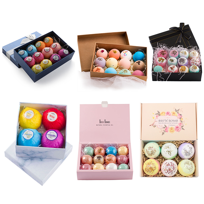 4/6/12pcs Natural Bath Bombs Bubble Bath Products Essential Oil Handmade SPA Stress Relief Exfoliating Cleaner Bathing Gifts