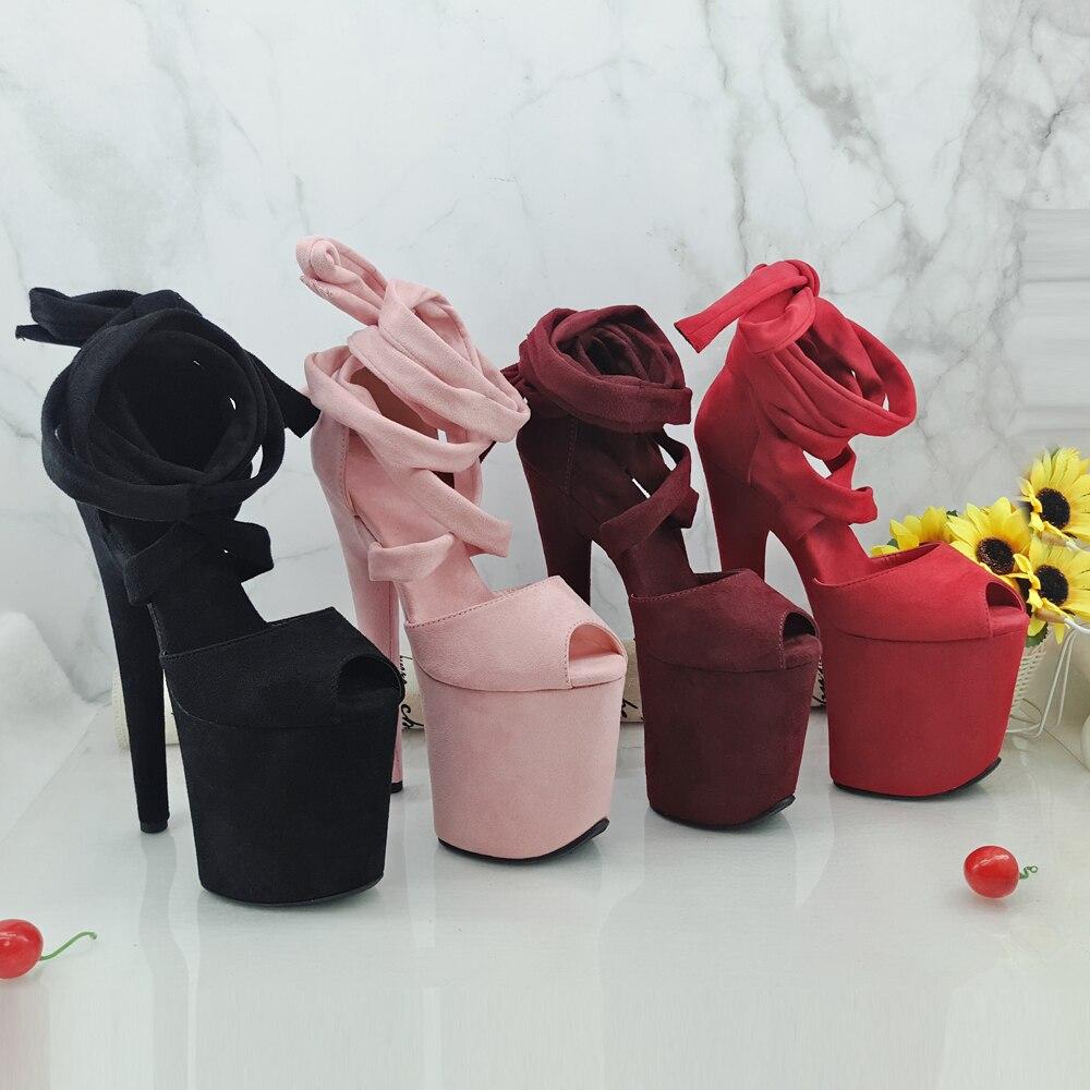Leecabe 8Inch/20cm Women's Platform Sandals  Party High Heels Shoes Pole Dancing Shoes