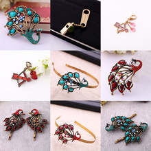 Clearance Sale Indian Jewelry  Antique Gold Color Acrylic Brooches Collection Summer New For Women Fashion Special Price