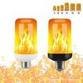 Декоративная лампа с эффектом пламени, 4 режима, светодиодсветодиодный лампа с динамическим пламенсветильник E14 E27 B22, креативная лампа-кукуруза с эффектом пламени, ночсветильник с имитацией эффекта пламени