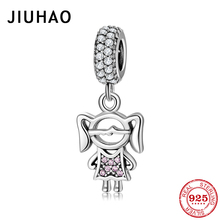 New Fashion 925 Sterling Silver Love Angel girl with wings Beads Fits Original Pandora Charms Bracelet Bangles DIY Jewelry cheap JIUHAO Diamond PD0167 GDTC Irregular 2 1g 2019 popular and fashion Bracelets Charms Anniversary Engagement Gift Party Wedding