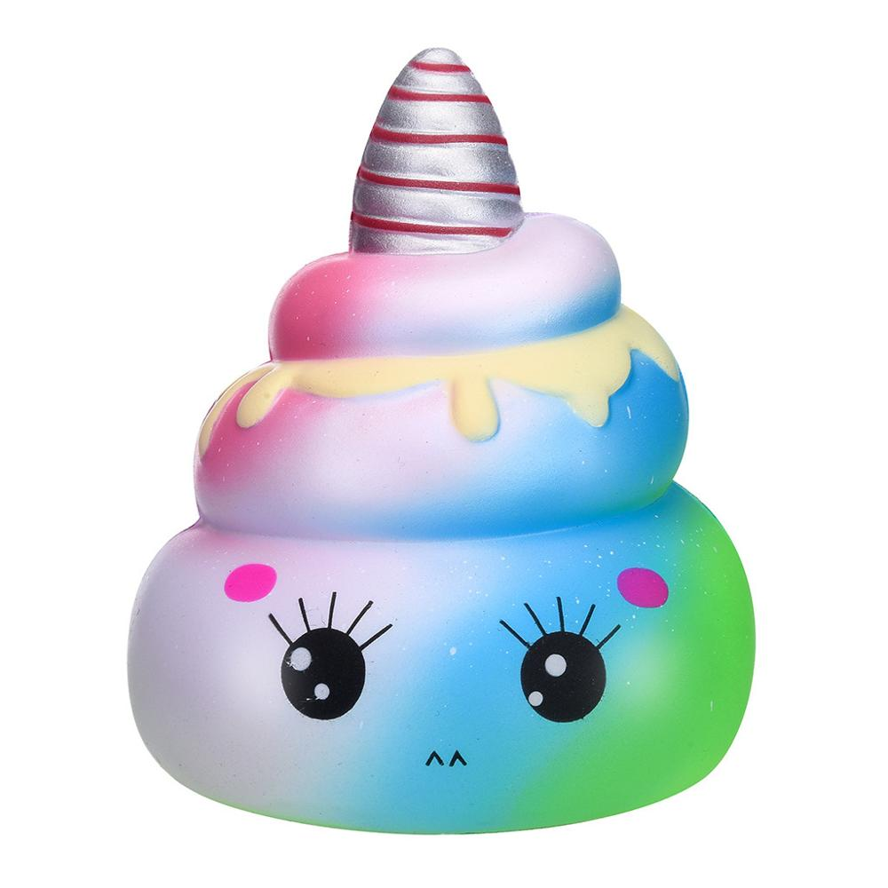 Antistress 14.5cm Squishy Soft Kawaii Unicorn Poo Slow Rising  Adorable Bread Scented Squeeze Relieve Stress Toy