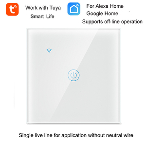 Image 3 - 1/2/3 Gang 1 Way Tuya WiFi Smart Switch Wall Light Switch WiFi Single live line for application without neutral wire