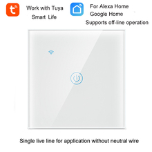 Tuya WiFi commutateur intelligent interrupteur déclairage mural WiFi ligne unique en direct pour application sans fil neutre