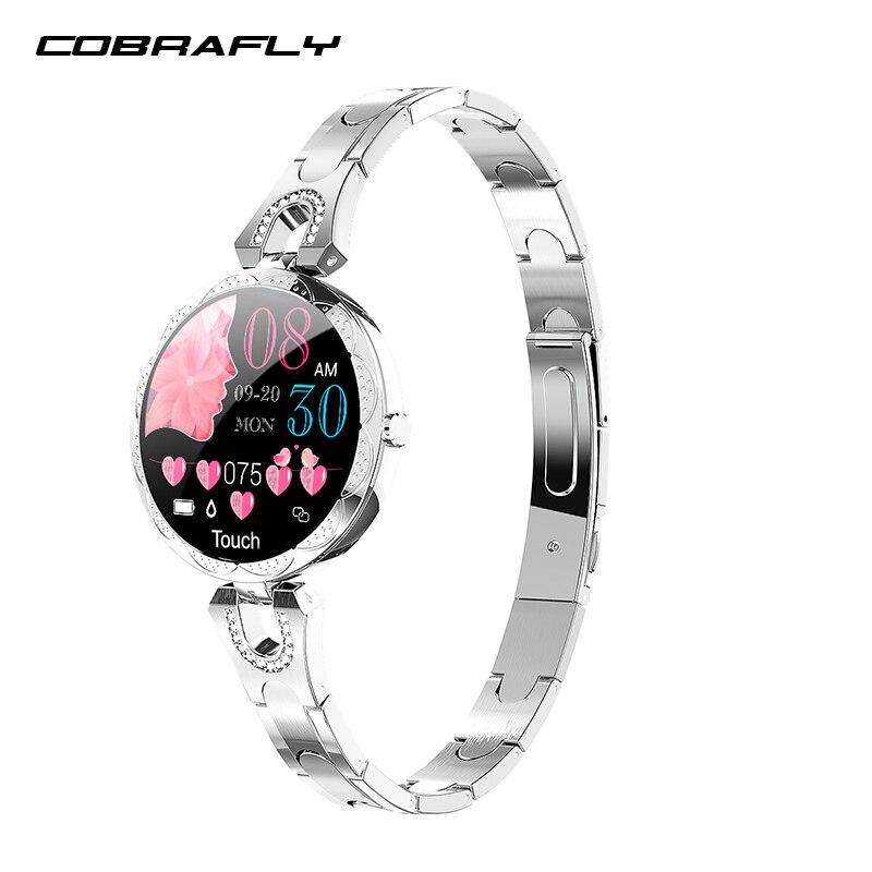 COBRAFLY AK15 Smart Watch Women Bracelet Heart Rate Monitoring IP67 Waterproof Fitness Tracker Ladies Watches for Xiaomi Iphone