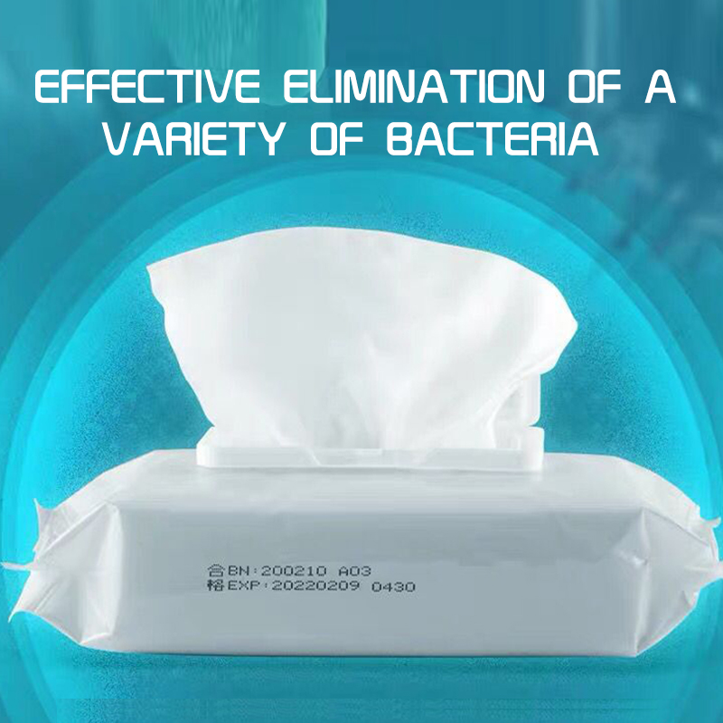 50Pieces/Pack 75% Ethyl Alcohol Antibacterial Wet Wipe Tissue Clean Hand Health Care 99.9% Kill Bacteria 50 Wipes/pack