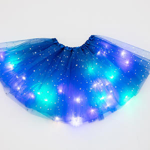 Tutu-Skirt Magic-Light Party Fashion Glitter Sequin Princess Dancewear Tulle Ballet Stars