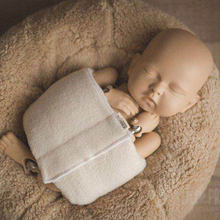 Newborn Photography Wrapped Cloth Props Soft Infant Photo Shoot Posing Tools Baby Wrap Pads Baby Photo-assisted Prop(China)