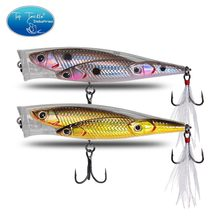 Floating popper fishing lure Topwater Plastic 80mm 10g artifical ABS plastic CF LURE fishing bait(China)