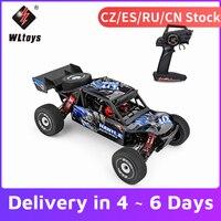 Wltoys-chasis de aleación de aluminio 124018 4WD, engranaje de aleación de Zinc, coche de carreras de alta velocidad, 60 km/h, 1/12, 2,4 GHz, coche todoterreno en carretera, RTR