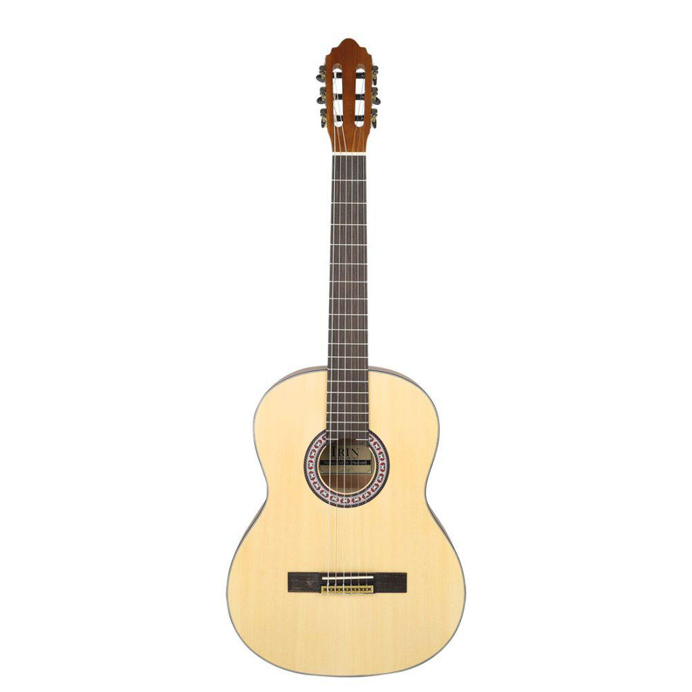 Guitare classique coin rond 39 pouces panneau épicéa 6 cordes Hawaii guitare basse Instrument de musique pour les apprenants de guitare