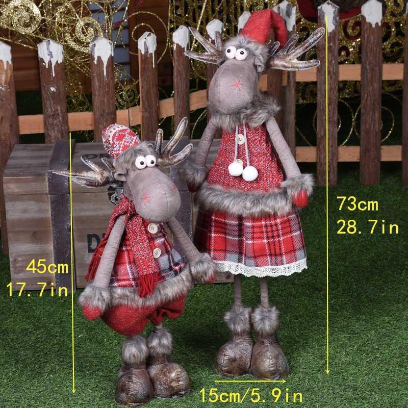 Santa Claus Snowman Rusa Boneka Hiasan Natal Merry Natal Hadiah Pesta Dekorasi untuk Rumah Hadiah Tahun Baru