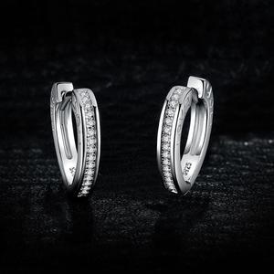 Image 2 - JewelryPalace aşk CZ Hoop küpe kanal seti kadınlar için 925 ayar gümüş küpe kore küpe moda takı 2020