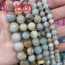 4 6 8 10 12 mm Faceted Amazonite beads natural stones Round loose beads for jewelry making charm bracelet necklace diy 15