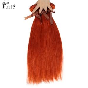 """Image 5 - רמי פורטה בלונד כתום חבילות עם סגירה ישר שיער חבילות עם סגירה ברזילאי שיער Weave חבילות 3 חבילות מהיר ארה""""ב"""