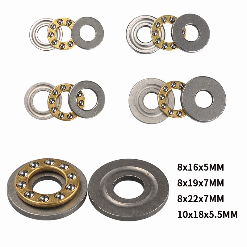 1Pcs  High Precision Miniature Thrust Ball Bearings F8/F10 Metal Axial Ball Bearing Set For Hardware Accessories 8/10mm