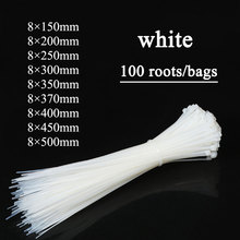 100pcs Zip Wrap Ties Cable Ties Wire Straps PLASTIC Hook Self-locking Nylon White 100pcs 10cm nylon plastic zip trim wrap cable loop ties wire self locking black widely used cable ties