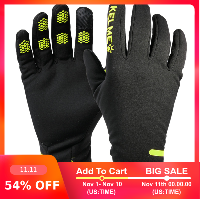 KELME Soccer Work Protection Gloves Touch Screen Driver Sports Winter Outdoor For Male Warm Gloves 9886405
