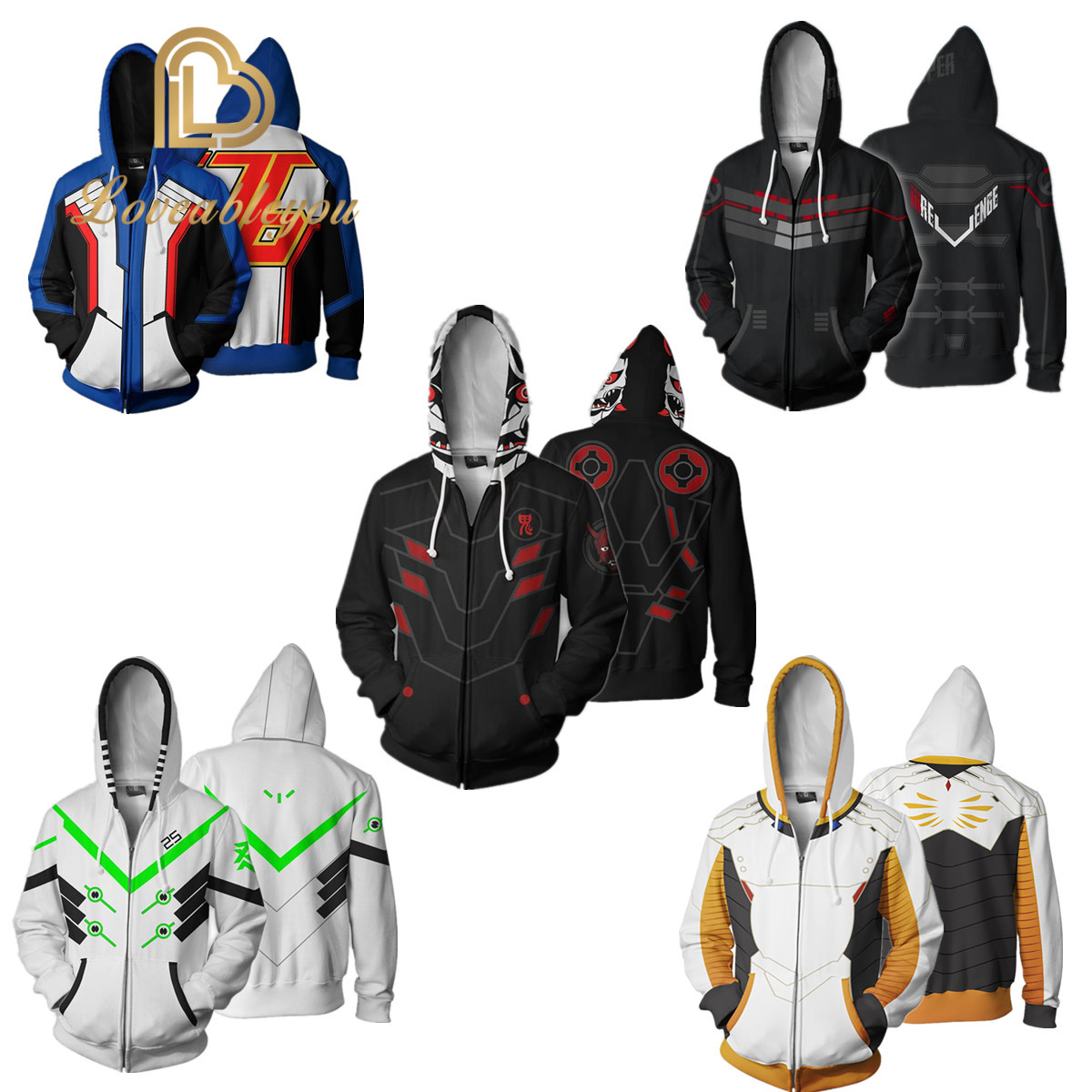 Unisex Sweatshirt Overwatch Cosplay Costumes Men Women Hoodies SOLDIER 76 Jack Morrison Pullover Tops Streetwear Coat Jackets