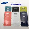 Задняя крышка батарейного отсека для Samsung Galaxy S10e G970 G970F SM-G970F, запасные части и рамка для объектива камеры